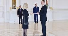 Президент Ильхам Алиев принял верительные грамоты новоназначенного посла Португалии в Азербайджане
